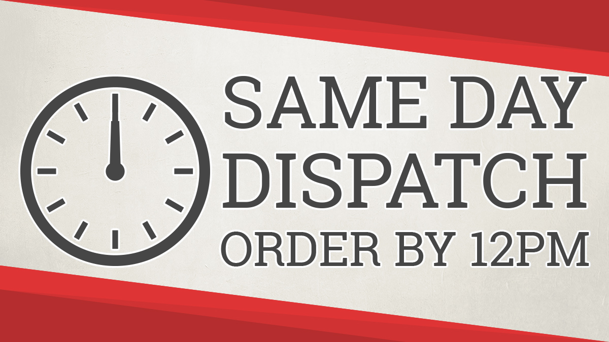 Order by 12pm GMT for Same Day Dispatch