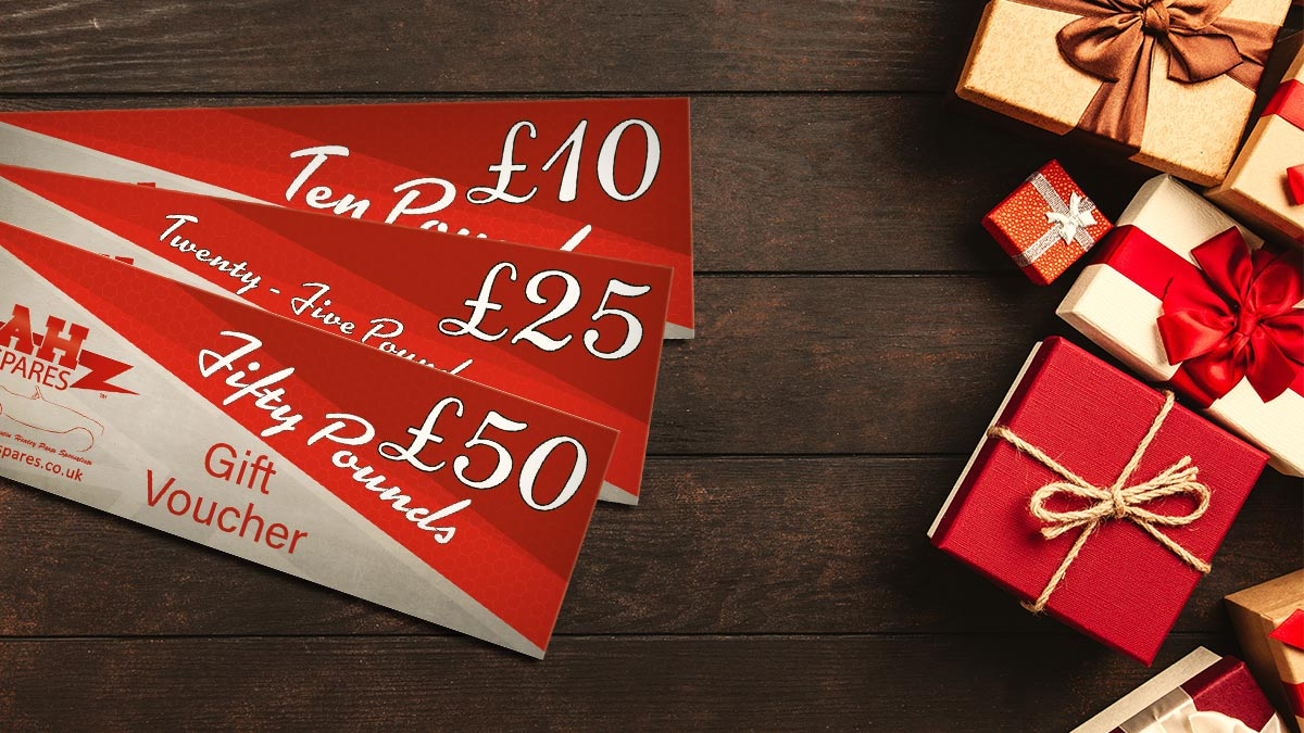 A.H. Spares gift vouchers.