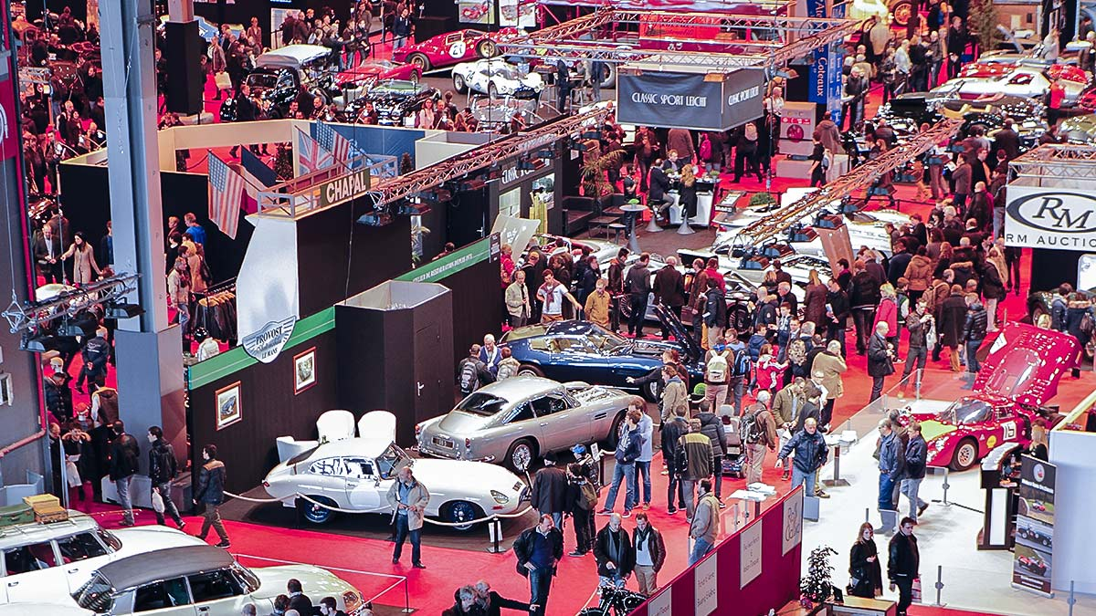 A.H. Spares exhibiting at the Salon Retro Mobile in February 2019.