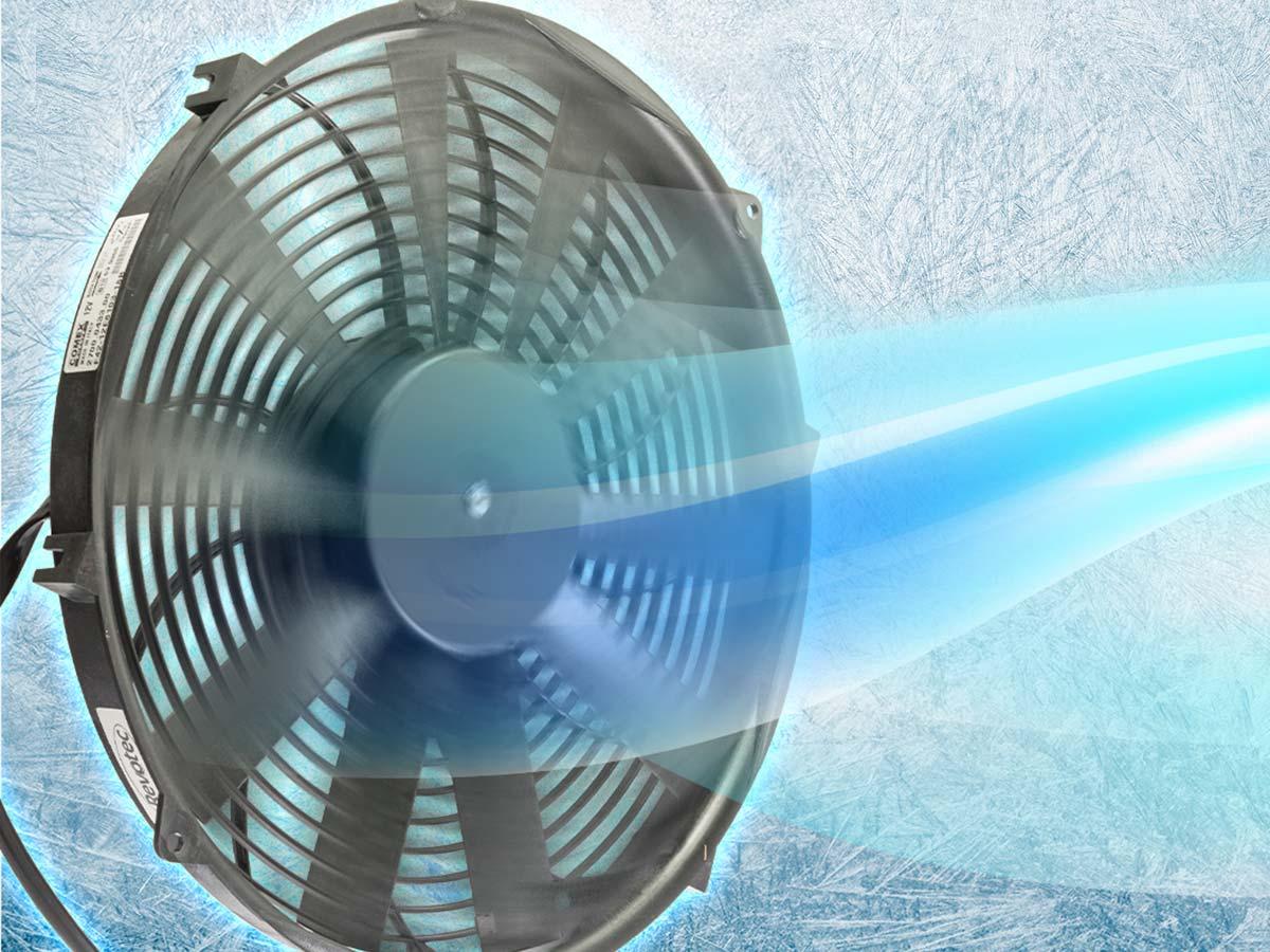 Revotec Austin Healey cooling fans