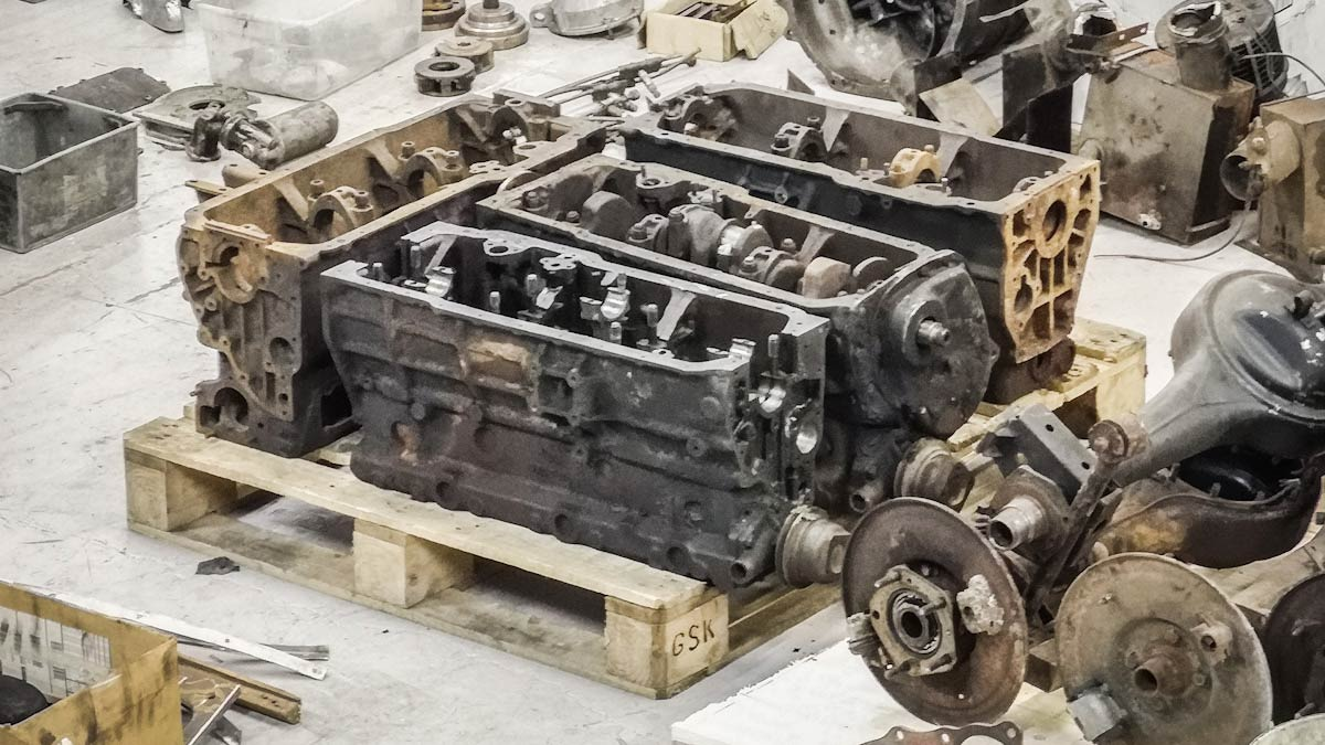 Second hand Austin Healey engine blocks