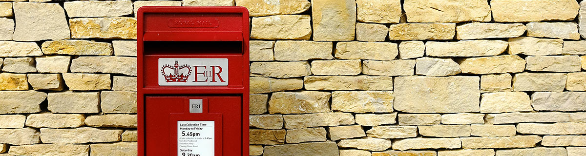British red postbox.