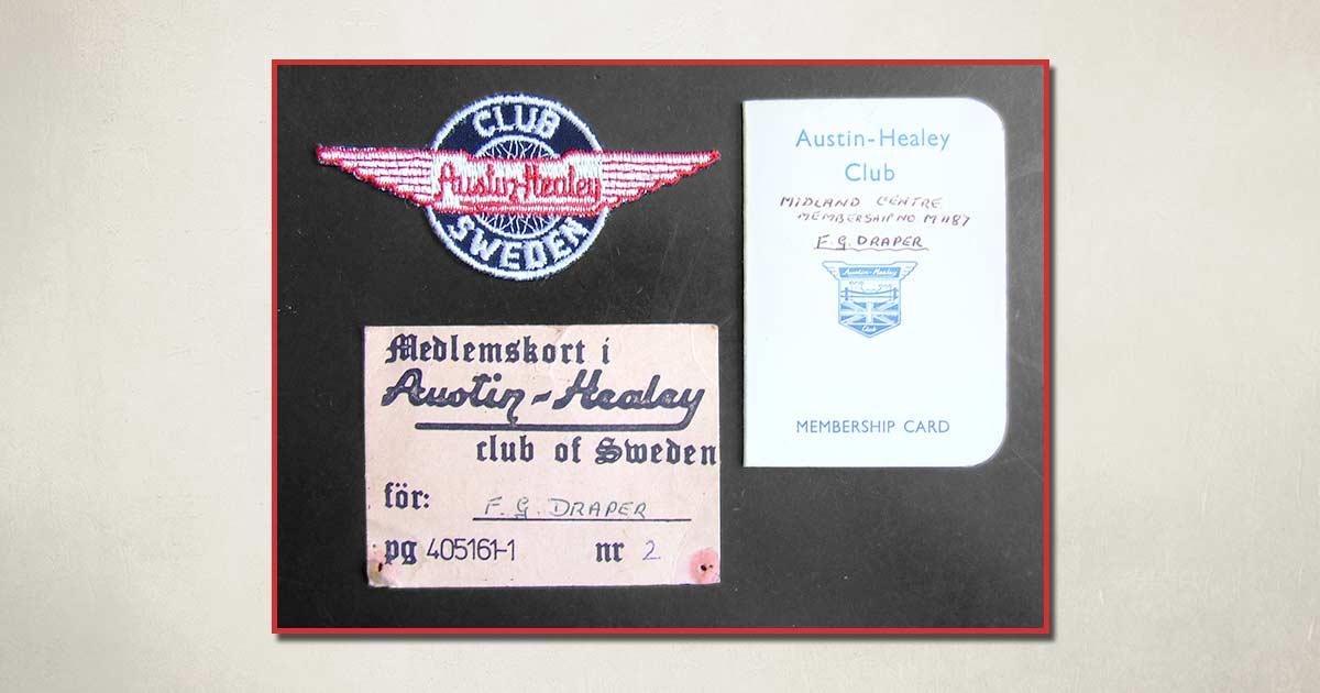 Fred Draper's Austin-Healey Club membership