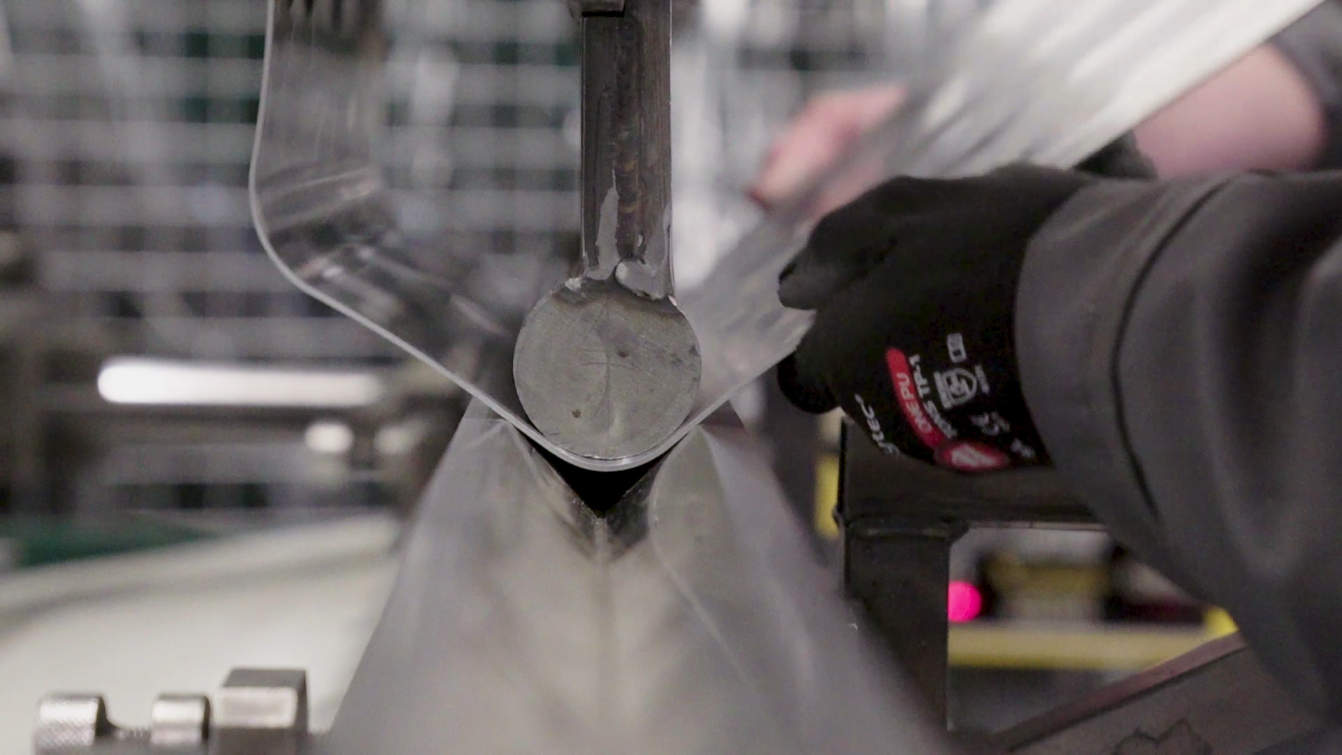 Screenshot from corporate film. Bending to form and Austin Healey petrol tank.
