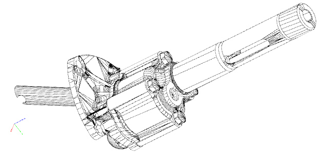 CAD drawing of Austin-Healey oil pump