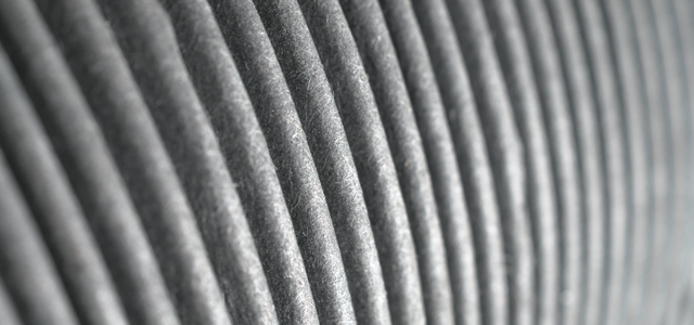 Image of ribs on heater trunking