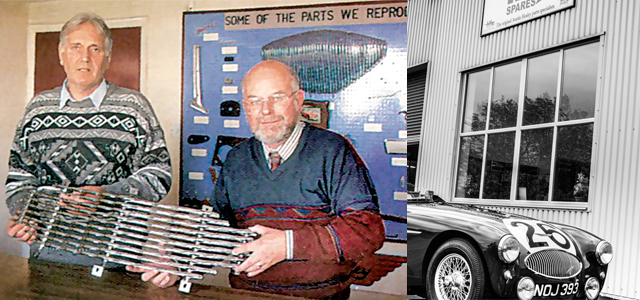 Image of Gordon Barton and Bob Hill at A.H. Spares in 1993
