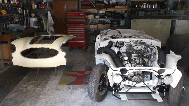Image of Austin Healey 100/6 without outer body panels