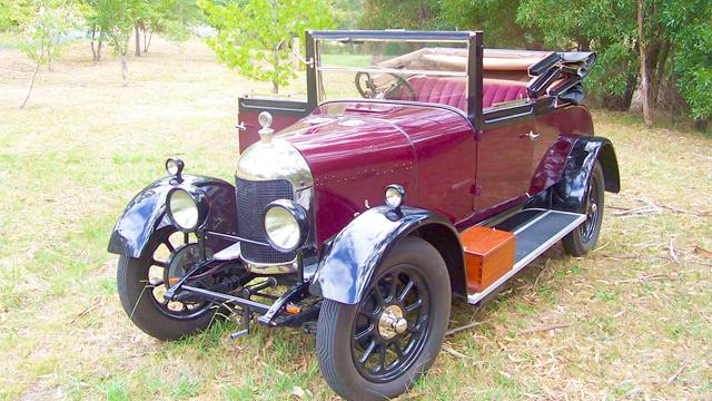 Image of red vintage car