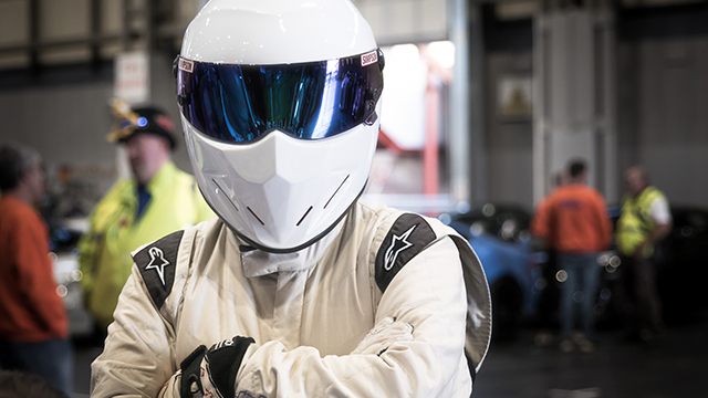 The Stig at the NEC Classic Motor Show 2017