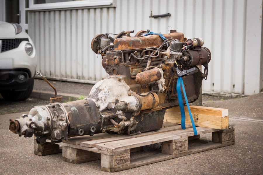 GENUINE TRICARB BN7 COMPLETE ENGINE, GEARBOX AND OVERDRIVE.