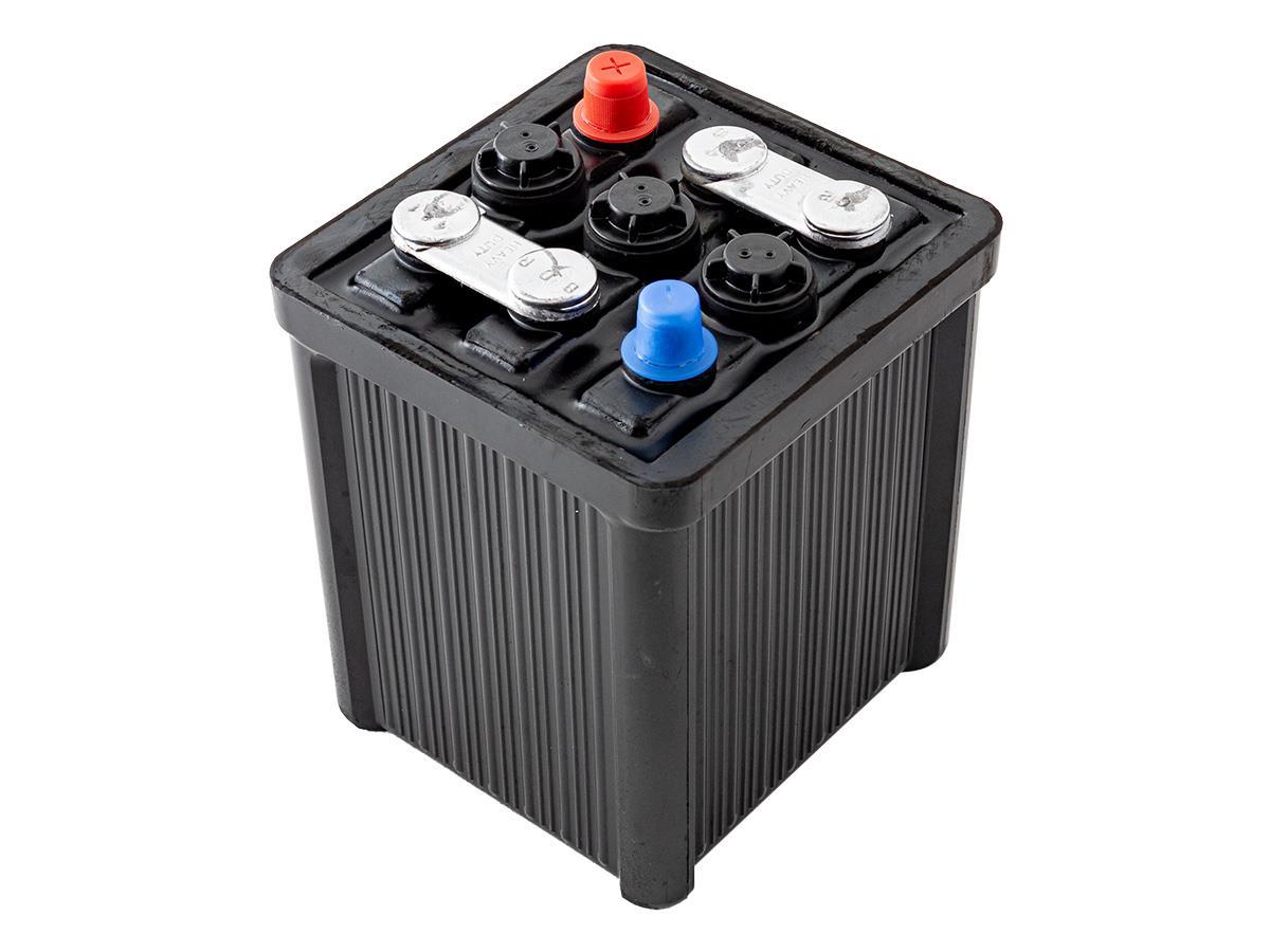 Austin Healey 6-volt battery.