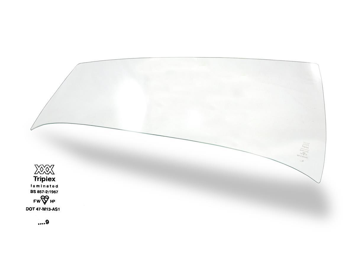 Austin Healey 100 windscreen glass.