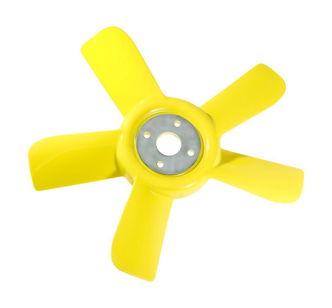 Yellow 5-blade fan