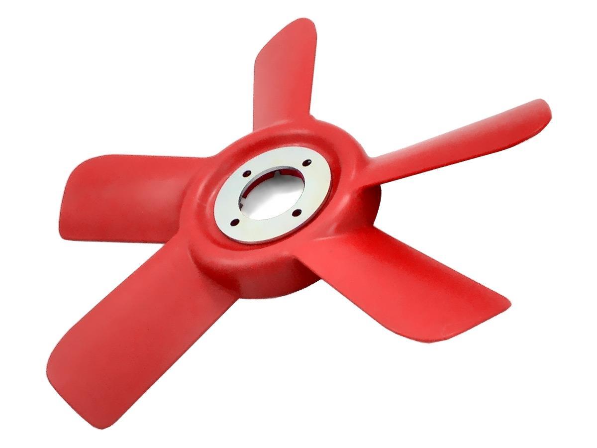Red 5-blade fan