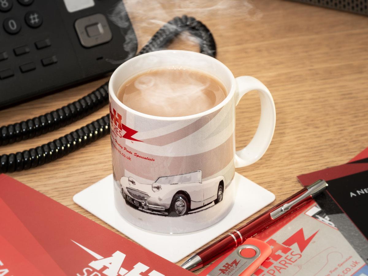 A.H. Spares branded mug.