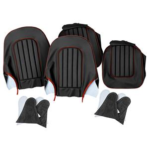 Buy SEAT COVER SET,front-BLACK/RED Online