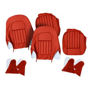 Buy SEAT COVER SET-front-RED/RED Online