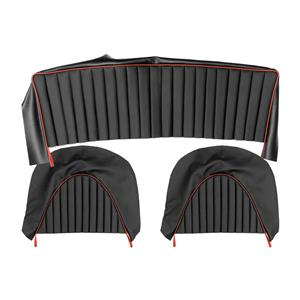 Buy REAR SEAT COVERS,set-BLACK/RED Online