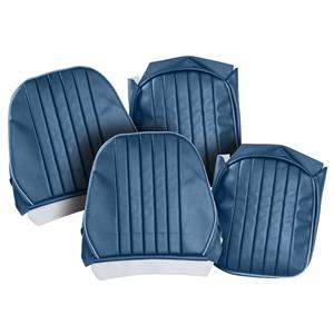 Buy SEAT COVERS-blue/light blue-PAIR-LEATHER Online