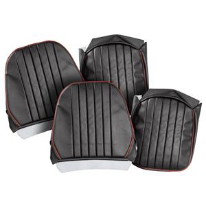 Buy SEAT COVERS-black/red-PAIR-LEATHER Online