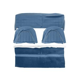 Buy REAR SEAT COVER SET-BLUE/SILVER Online