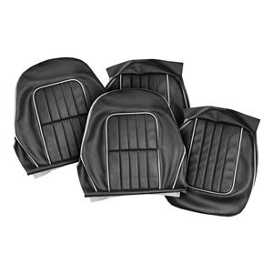 Buy SEAT COVERS-black/white-PAIR Online