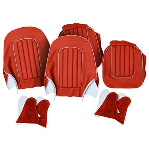 Buy SEAT COVER SET,front-RED/WHITE Online