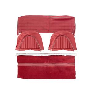 Buy REAR SEAT COVER SET-RED/SILVER Online