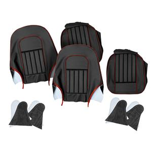 Buy SEAT COVER SET-front-BLACK/RED Online