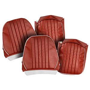 Buy SEAT COVERS-red/white-PAIR-LEATHER Online