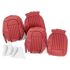 Buy FRONT SEAT COVERS,set-RED/SILVER Online