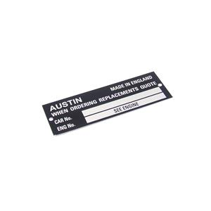 Buy CHASSIS IDENTIFICATION PLATE Online