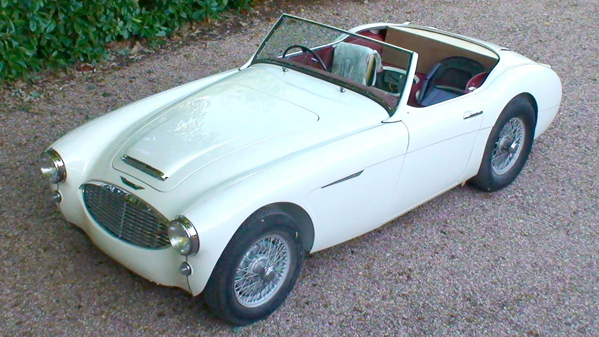 Mathew Randell's restored Austin Healey 100/6.