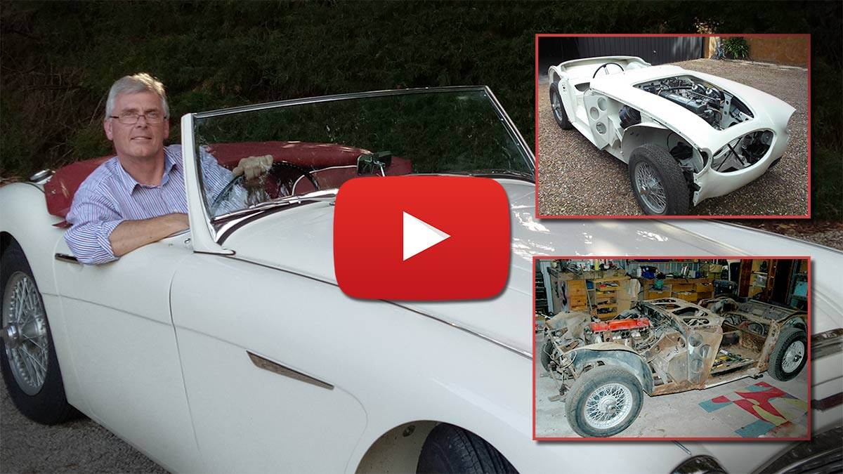 Mathew Randell's Austin Healey restoration YouTube playlist.