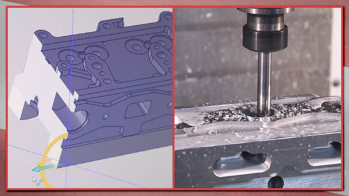 CAD design and CNC machining