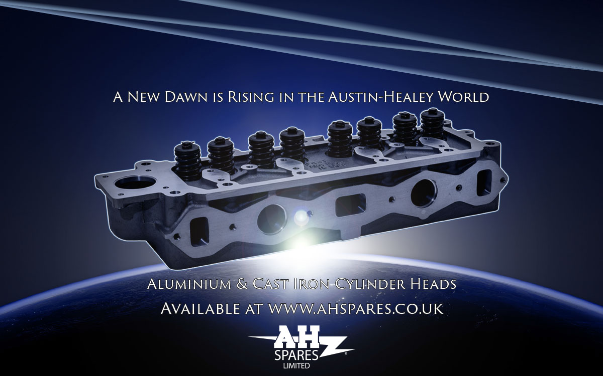 Alloy and cast iron Austin Healey cylinder heads.
