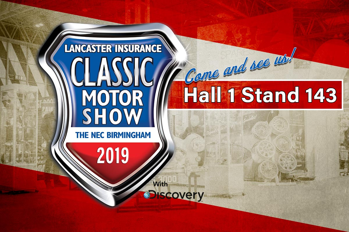 Classic Motor Show 2019 | See us in Hall 1 Stand 143