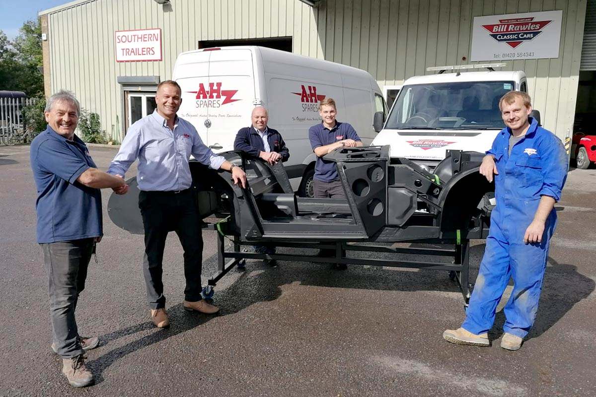 A H Spares delivering prototype inner body assembly to Rawles
