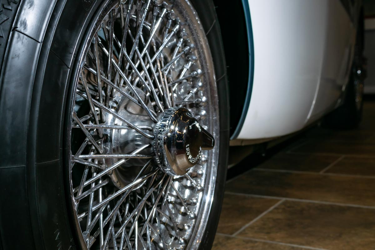 Painted Austin Healey wire wheels