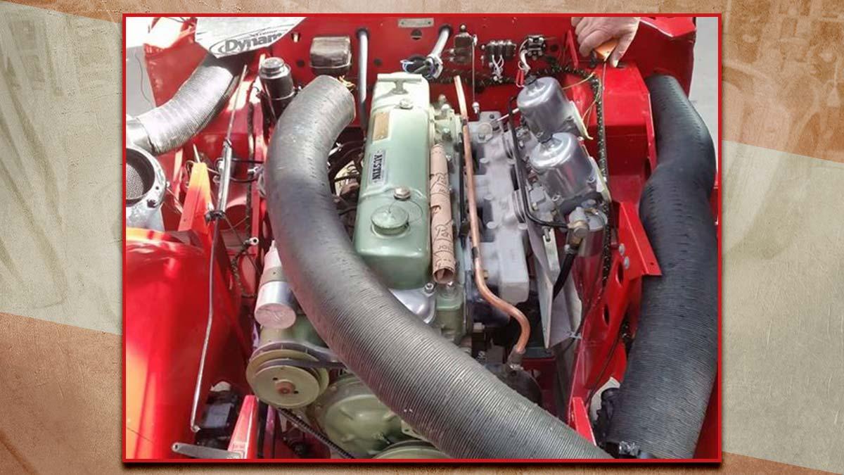 Restored Austin Healey 100/6 engine.